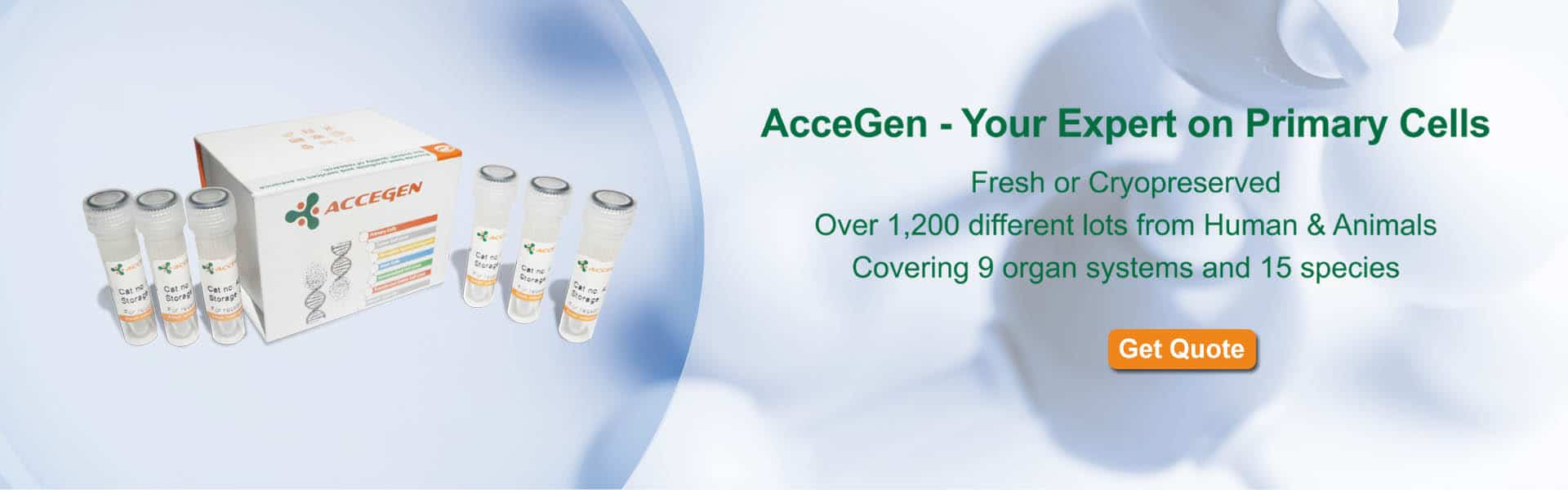 AcceGen - Your Expert on Primary Cells